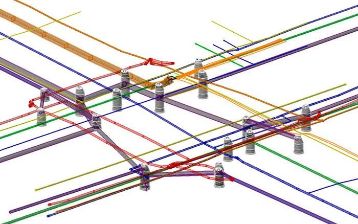 Создание 3D модели инженерных коммуникаций города
